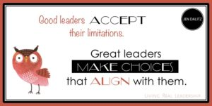 Accept your limitations. Then make choices that align with them.
